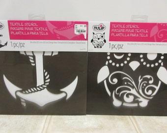 "8"" x 8"" Tulip Owl Textile Stencil-Anchor Stencil"