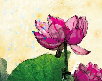 Lotus Greeting Card 02