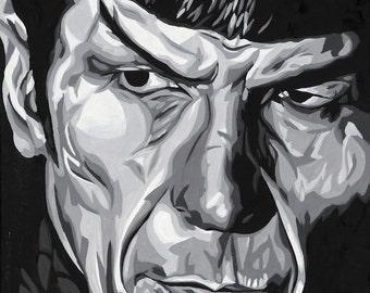 Star Trek Spock Original Painting Print 12 x 18