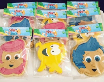 Bubble Guppies inspired Sugar Cookies