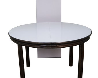 McGuire Of San Francisco Round Bamboo Rattan Dining Table