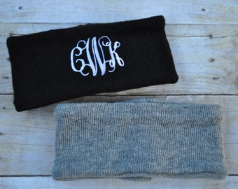 Monogram Fleece Headband- Monogram Ski Headband