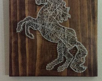Mustang Nail and String Art