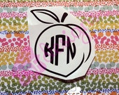 Peach with Monogram...
