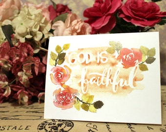 God is Faithful Card