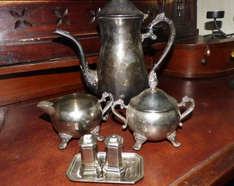 Antique set silver platted