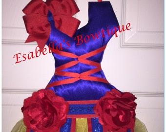 Snow white inspired bow holder;tutu bow holder;princess tutu bow holder;tutu bow holder
