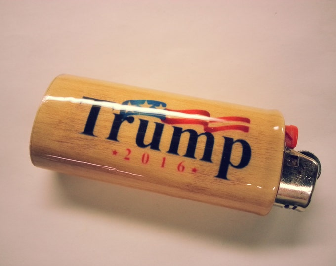 Donald Trump 2016 Make America Great Again BIC Lighter Case Holder Sleeve Cover