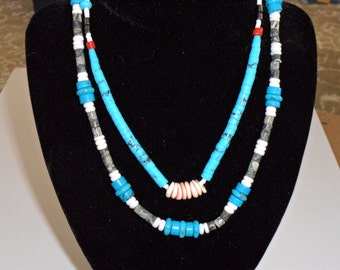 Native American Dead Pawn Turquoise Necklace
