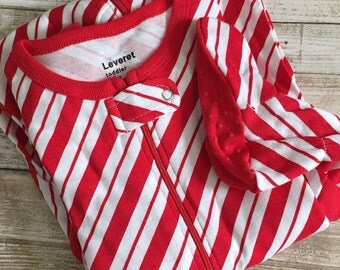 Candy Cane Footie Pajamas!!