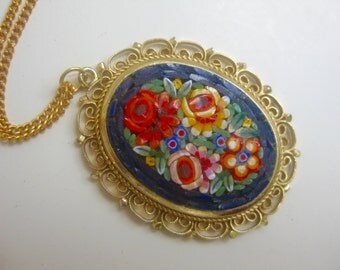 old chain m. micro mosaic pendant - Italy