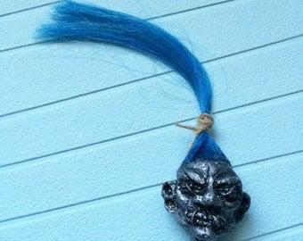 Blue Haired Shrunken Head Magnet