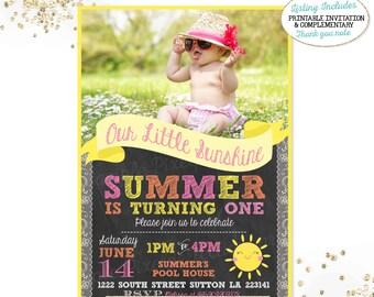 Sunshine Birthday Invitation Sunshine Invitation Our Little Sunshine Invite You Are My Sunshine Girls Sunshine Party Pink Yellow Orange