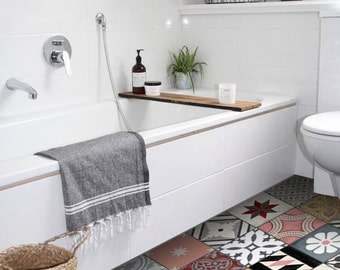 Tile Decals - Tiles for Kitchen/Bathroom Back splash - Floor decals - Rose Patchwork Mix Tile Sticker 48 Sticker Pack
