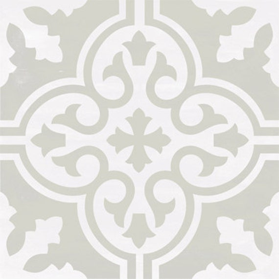 vinyl floor tile sticker floor decals carreaux ciment encaustic floc tile sticker pack in. Black Bedroom Furniture Sets. Home Design Ideas