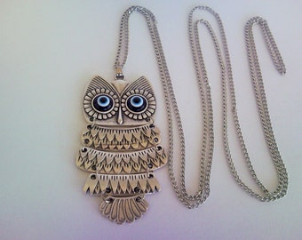 Women Necklace Silver Owl Necklace Gift for Women Gift for Her Valentine Gift