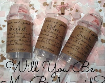 Will You Be My Bridesmaid? Confetti Push-Pops