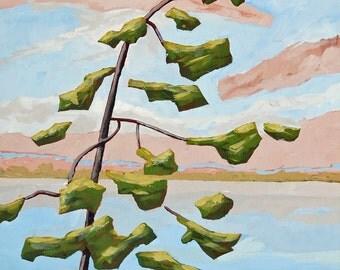 569, art, landscape, painting, trees, pine trees, landscape art, landscape painting, home decor, wall art, interior design, prints, signed