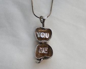 Apple Hidden Secret Romance Sterling Silver Necklace