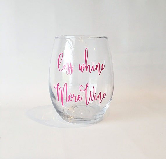 Stemless wine glass funny wine sayings wine glass by for Cute quotes for wine glasses