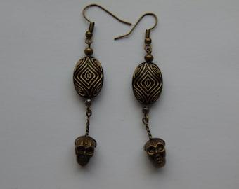 Mayan Inspired Dangle Earrings