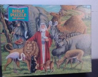 Bible Puzzle Noak's Ark Large 100 Interlocking Pieces Sealed