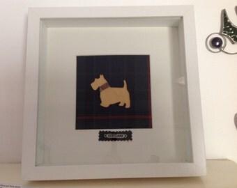 Scotty Dog framed