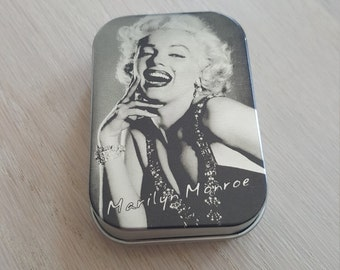 Natural Lip balm in tin laughing Marilyn Monroe- gift for her