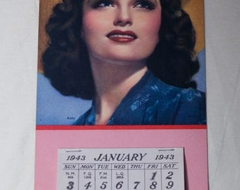 glamorous beauty calendar from 1943