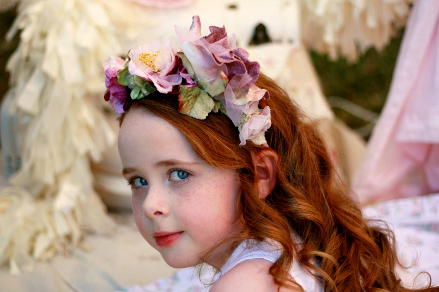 Velvet flower crown velvet flower headband flower girl headband velvet flower crown velvet flower headband flower girl headband girls flower crown izmirmasajfo