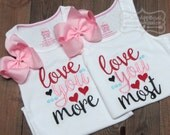 Embroidery design 5x7 6x10 Love you More Love you Most Embroidery sayings, Valentines day, new baby embroidery, socuteappliques