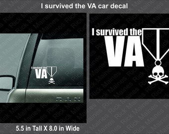 I survived the VA car decal