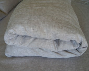 Organic Linen Duvet Cover 100% pure Flax Oatmeal Beige Natural Bedding Twin Full Double Queen Super King Kalifornia Single Euro Doona Quilt