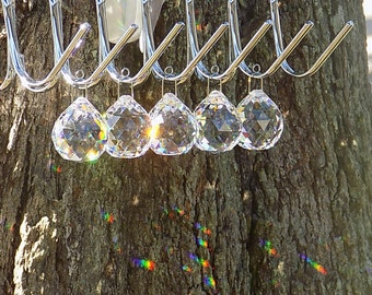 30mm Crystal Balls, 5 pcs, Window Hanging Crystal Prism, Suncatcher, Feng Shui Ball, Wedding, Chandelier
