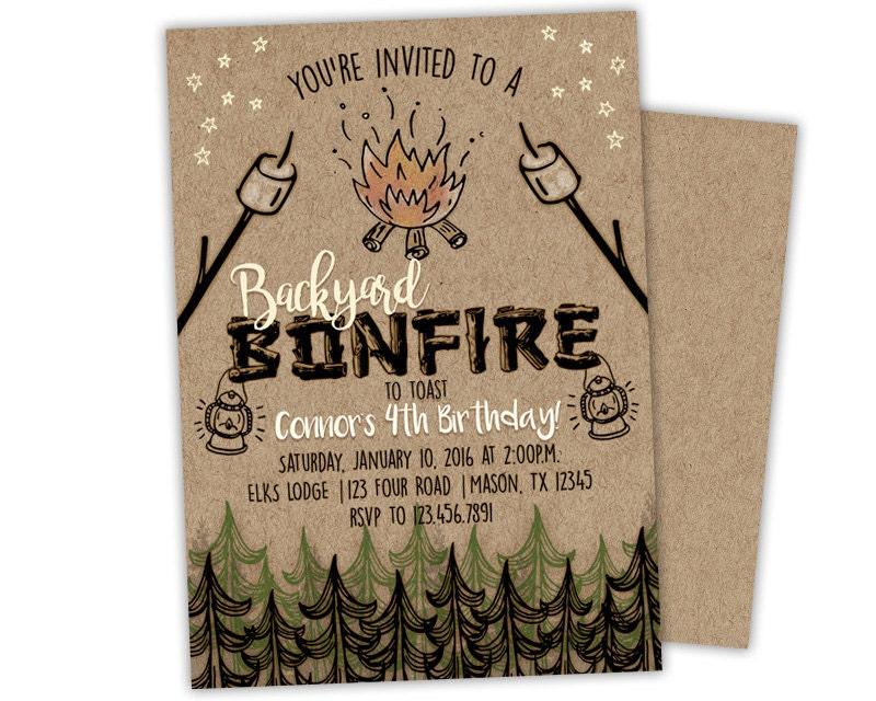 bonfire invitation  etsy, beach bonfire party invitations, bonfire night invitations, bonfire night invitations for free