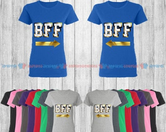 BFF Gold Edition - Best Friend Forever Matching T-Shirts - BFF Tees