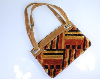 1960s Hippie Carpet Purse