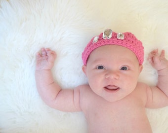 Baby Princess Crown, Princess Crown, Baby Photo Prop, Crocheted Princess Crown