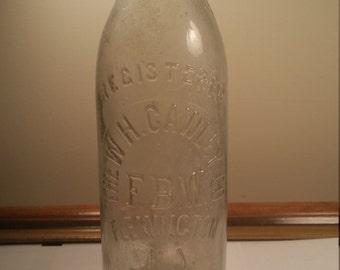 The W.H. Cawley Co. Flemington NJ Bottle