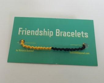 PS17 Black/Yellow/Black/Yellow friendship bracelet