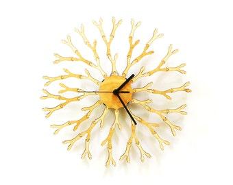 Dandelion - unique 'interactive' wooden wall clock