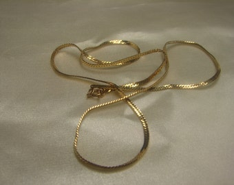 """14kt gold Filled Chain 3.4 grms, hallmarked -3mm wide, 18"""" long 485"""