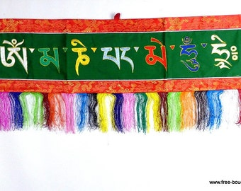 HANGING TIBETAN OM Buddhism meditation decoration Tibetan Omph4