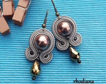 Copper Soutache Earrings