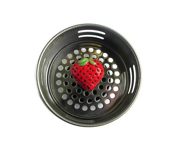 Sink strainer kitchen sink strawberry decor strawberry - Decorative kitchen sink strainers ...