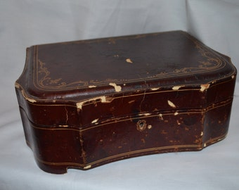 Old Leather Like Jewelry Case