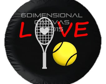 Tennis Love Tire Cover!