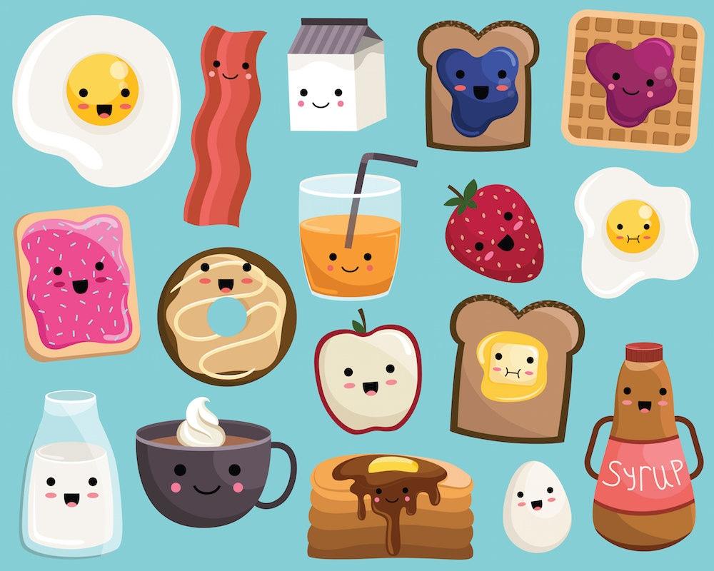 Uncategorized Cute Kawaii Food kawaii breakfast food clipart vector png jpg files 300