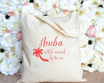Aruba - We'll Be Married By The Sea Destination Wedding Totes