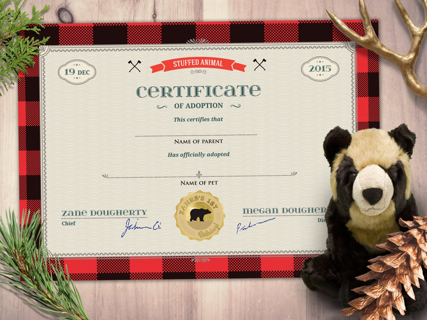 Puppy adoption certificate party favor stuffed animal adoption gallery photo gallery photo gallery photo gallery photo xflitez Gallery